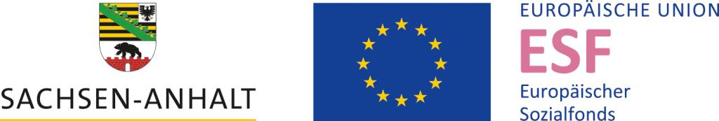 Logo Land Sachsen-Anhalt & Logo ESF Europäischer Sozialfonds